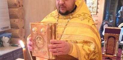 Божественная литургия в храме Воскресения Словущего села Воскресенск