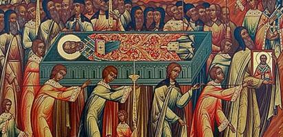 Божественная литургия в день перенесения мощей святого Иоанна Златоуста