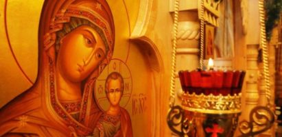 Божественная литургия в день празднования Иверской иконы Божией Матери