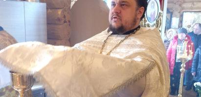 Божественная литургия в мясопустную родительскую субботу в храме Воскресение Словущее с. Воскресенск