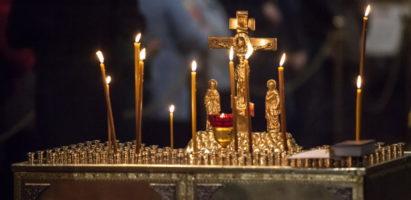 Заупокойное вечернее богослужение в Александро-Невском соборе