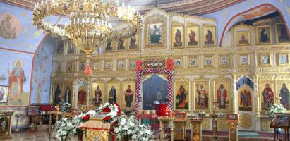 Божественная литургия в кафедральном соборе города Кирова