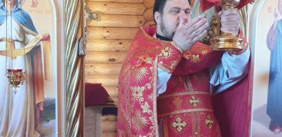 Божественная литургия в с. Воскресенск
