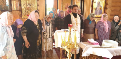 Молебное пение в храме Воскресение Словущее села Воскресенск