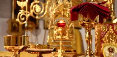 Божественная литургия в Александро-Невском соборе