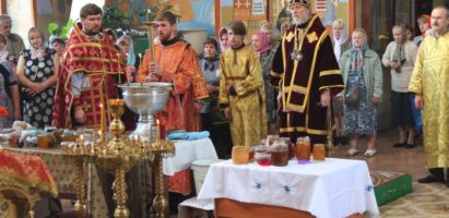Происхождение Честных Древ Животворящего Креста Господня. Божественная литургия в Александро-Невском соборе