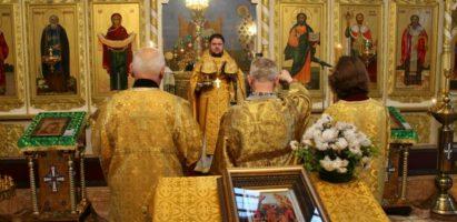 Воскресная Божественная литургия в кафедральном соборе г. Кирова